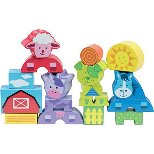 FIRST LEARNING - 8601 - Premiers Blocs Animaux - 18 Pièces