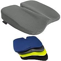Cojín de cuña de libertad - excelente para el alivio de coxis, apoyo lumbar, dolor de espalda en el coche o en casa (malla tridimensional gris) por Medipaq ...