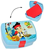 Lunchbox / Brotdose -' Käpt`n Jake & die Nimmerland Piraten' - mit extra Einsatz / herausnehmbaren Fach - Brotbüchse Küche Essen - für Mädchen & Jungen - Pirat / Piratenschiff - Kinder Vesperdose - Brotzeitdose - Fächern - Brotzeitbox
