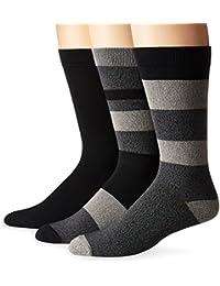 K. Bell Socks Men's 3 Pack Tonal Stripes Crew