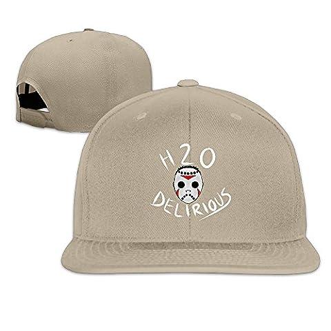 H2O Delirious YouTube Game Logo Flat Brim Baseball Hat Natural