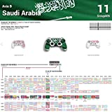 Sony Playstation 4 Controller Design Skin flag of Saudi Arabia Decal Sticker for Playstation 4 Controller (PS4)