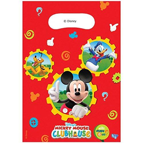 KULTFAKTOR GmbH Mickey Mouse Geschenktüten mit Micky Donald und Pluto Disney-Lizenzartikel 6 Stück bunt Einheitsgröße