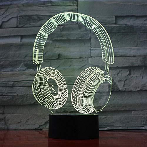 Cuffie musica auricolare design tocco lampada da tavolo cambia colore lampada da tavolo nuova luce nottu