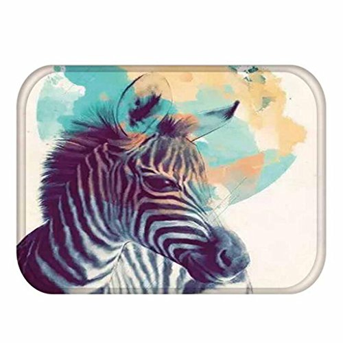 KKY-Enter Modernen Minimalistischen 3D Stereo Zebra Muster Druck Teppich Küche Saugfähigen Rutschfeste Matte Bad Rutschfeste Matte, 40 * 60 cm -