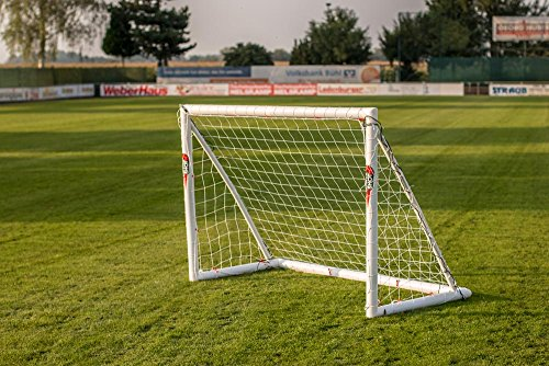 POWERSHOT Fußballtor PRO 1,8 x 1,2m aus uPVC WETTERFEST, Inkl. Klicksystem und Zubehör, VERLETZUNGSSICHER