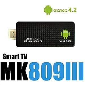 AZURILL SMART TV MK809III - (GOOGLE MINI PC, Quad CORE A9, 8GB, ANDROID)