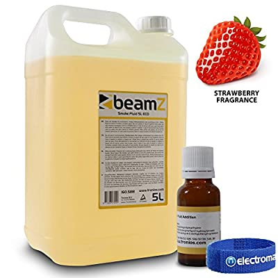 5 Litre Beamz Eco Smoke Machine Fluid Orange w/ Strawberry Scent Fragrance 30ml