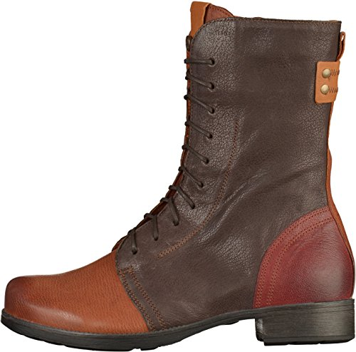 Think Denk, Stivali Desert Boots Donna Marrone (Schoko/kombi 46)