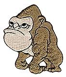 Affe Gorilla Aufnäher Bügelbild