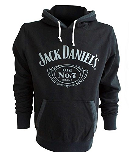 Jack Daniel's Felpa Cappuccio Nero Classic JDS030080HD (M)