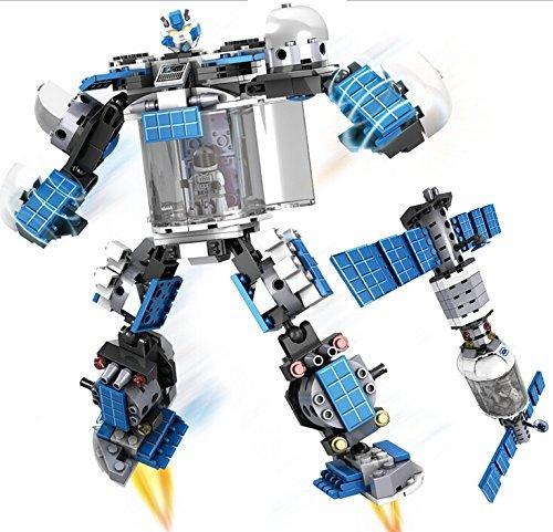 Preisvergleich Produktbild Puzzle-Montage die Bausteine der kleinen Teilchen Gestaltwandel Robot 2-in-1-Tempel auf der ersten 30101-08