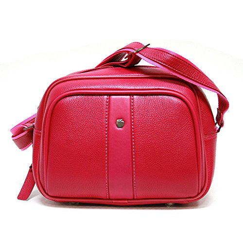 Leather Beauty Case Kosmetikkoffer, 28 cm, 10 liters, Mehrfarbig (Pink)