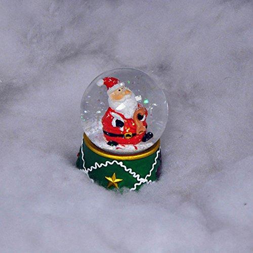 Navidad bola de nieve con luces LED