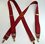 Merlot Burgundy Colored Men's Suspenders...