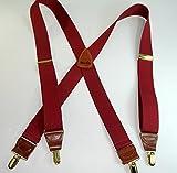 Merlot Burgundy Colored Men's Suspenders...