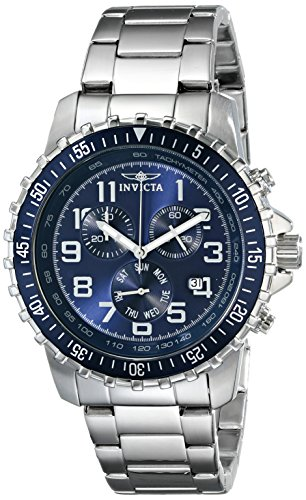 Invicta Specialty - 6621 Orologio da Polso, Cronografo, Uomo, Cinturino Acciaio Inossidabile, Argento