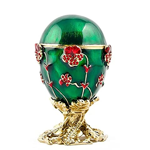1899Pansy Russe de la musique, Design Oeuf de (Smalto Jeweled Trinket)