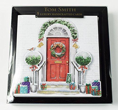 24 Weihnachtskarten, Schnee in 2Designs, Luxus-Weihnachten mit schönen Sprüchen, von Tom Smith