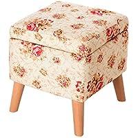 Preisvergleich für YYdy-Polsterhocker Massivholz für Schuhhocker Wohnzimmer-Speicher-Hocker Einfacher quadratischer Hocker Kreative Gewebe-Sofa-Hocker Kleine Bank (Farbe : E)