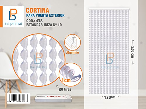 BAI PIN HUI Cortina Puerta Exterior Transparente