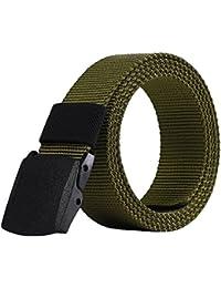 treestar ajustable cinturón de lona hombres estudiantes Denim-style deportes cinturón con hebilla de Durable moda informal a… UIIECiH