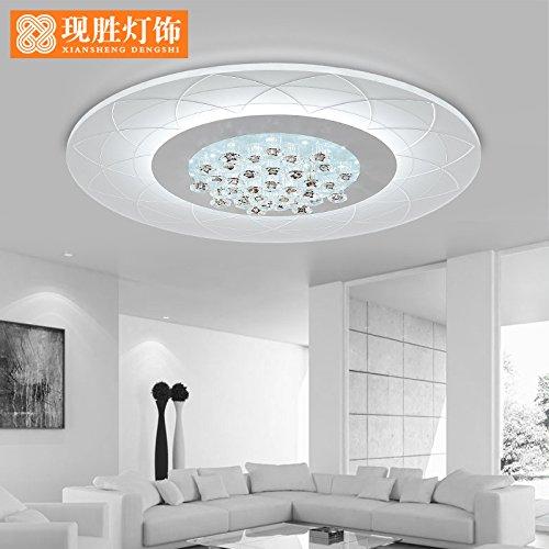 ANGEELEE Moderno y minimalista slim crystalLedCeiling lámparas Circular moderna romántica dormitorio salón comedor matrimonio lámparas de luz blanca, 42Cm