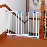 Türschutzgitter Extra Breite Pet Tür für Treppen Flur Tür Baby Tore Druck Mount Tall Passt Räume, 82-200 cm Breit, Höhe 100 cm, Weiß (Größe : 112-120cm)