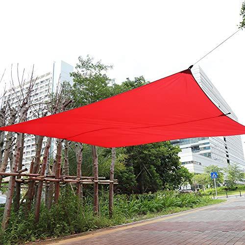 Cocoarm Sonnensegel, rechteckig, wasserdicht, für Garten und Terrasse, Sonnensegel, Sonnensegel, Markise, mit Aufbewahrungstasche für den Innen- und Außenbereich