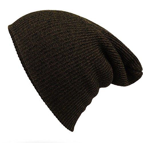 Gestreifte Nadel Warm-Hut - iParaAiluRy Unisex Luxurious modern Weiche Slouchy Knitting Wool Cap Beanie Hut im Winter und Frühjahr (Robe Bett-jacke)