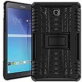 Verco Hülle für Samsung Galaxy Tab E 9.6, Outdoor Schutzhülle Armor Tablet Case Cover [T560 T561], Schwarz