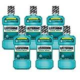 Listerine Cool Mint Antibakterielle Mundsp lung (mit frischem Minzgeschmack, f r gesunde Z hne) 6er Pack (6 x 600 ml)