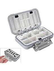 Bazaar Compartimentos impermeables Pescando los señuelos de casos ganchos caja de accesorios de pesca