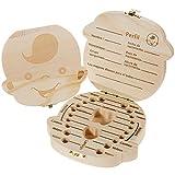 Lictin Caja de dientes de leche En Espanol Almacenamiento Madera Almacenaje Para Dientes De Leche para bebe nino(chico)