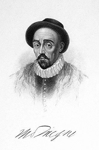 The Poster Corp Michel Eyquem De Montaigne/N(1533-1592). French Essayist. Stipple Engraving 19Th Century. Kunstdruck (45,72 x 60,96 cm) - 19th Century Engraving