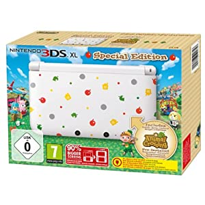 Nintendo 3DS XL  – Konsole, weiß  + Animal Crossing: New Leaf (vorinstalliert) – Limitierte Edition