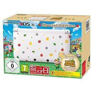 Nintendo 3DS XL – Konsole, weiß + Animal Crossing: New Leaf (vorinstalliert) – Limitierte Edition