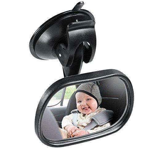 Spiegel Auto Baby, Rücksitzspiegel für Babys und Kinder, Sicherheitsspiegel für Kinderschale, Babyschale, Rückwärtssitz, Rear View Mirror Car mit 360° Schwenkbar Shatterproof Material