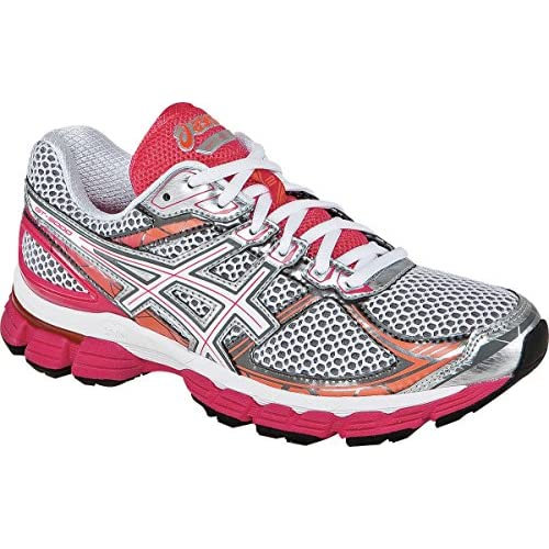 ASICS Womens Gt-3000 2 Running Shoes, Size: 6 B(M) US Womens, Color White/Snow/Raspberry