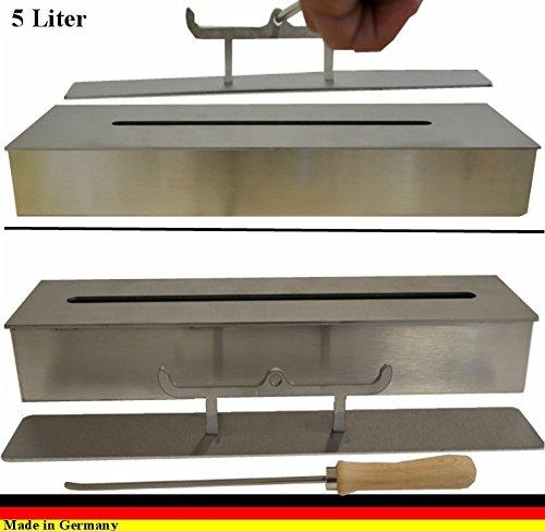 Preisvergleich Produktbild 5 Liter Bio Ethanolbrenner aus Edelstahl für Gel und Ethanolkamine Brenner