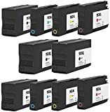 Printing Pleasure 10 (2 SETS + 2 BLACK) Compatible Ink Cartridges Replacement for HP 953XL for HP OfficeJet Pro 7740 8210 8218 8710 8715 8716 8718 8719 8720 8725 8728 8730 8740 - Black/Cyan/Magenta/Ye