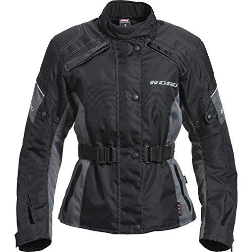 Motorradjacke Road Damen Tour Textiljacke 1.0, verschließbares Belüftungssystem, Oberarm-, Taillen-, Bundweitenverstellung, Reflektoren an Brust und Rücken, Schulter-, Ellbogenprotektoren, grau, L