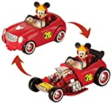 Micky Maus Flinke Flitzer 182813MM2 Disney Junior Micky Road. R. transf.Hot Doggin'Hot Rod, rot