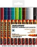 Molotow MO200451 Acryl Marker One4All 127HS, Etui Basic-Set 2, 2 mm, 10 Stück