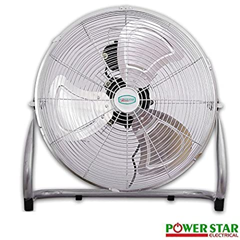 Commercial Portable Velocity Chrome Floor Electric Fan 3 Speed Metal 16