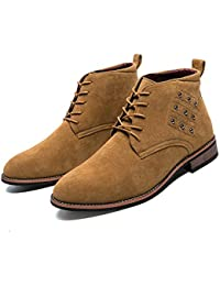 Männer Business Oxford Casual Soft High-Top-Anti-Rust Rivet Holz Sohle  Formale d504941168