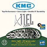 KMC Kette X-11 EL Silber 11-Fach Campa/Shimano, SRAM, inkl. Missing-Link, One Size