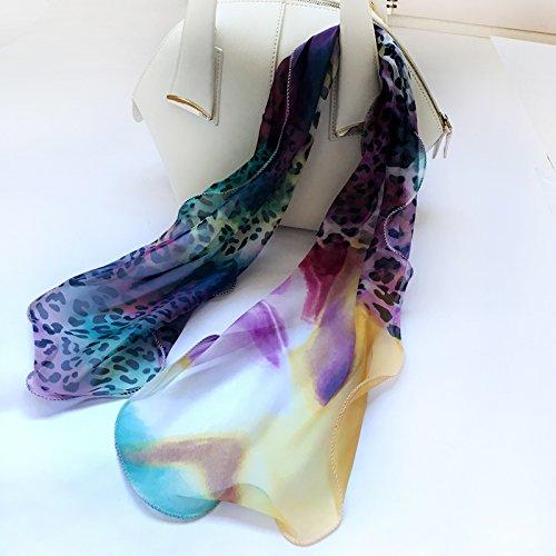 YRXDD Silk Schal Dotted Schal Hanf Spinn Wachs Handtuch Gürtel mit Haar Band (30 * 85cm), 11 (Hanf Wachs)
