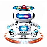 #1: Glance Best Musical and Naugty Dancing Robot, White/Blue