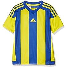 adidas Striped 15 JSY Camiseta de Equipación, Niños, Amarillo/Azul (Bold Blue